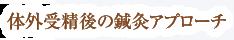 横浜市戸塚区ファンクショナルマッサージ治療室 横浜東戸塚院の体外受精後の鍼灸アプローチ